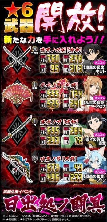 ★6武器が期間限定で遂に開放!武器イベント「日出処ノ闘具」開催!