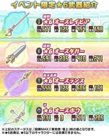 アコガレ花嫁大作戦!!_★6武器