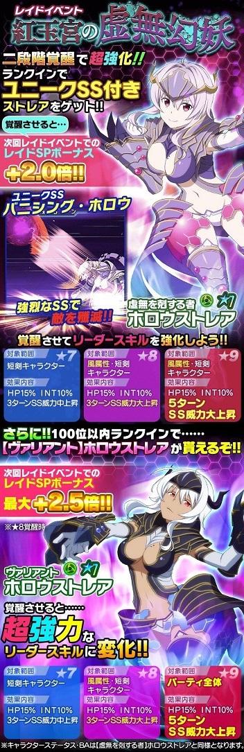 レイドイベント「紅玉宮の虚無幻妖」開催!報酬の☆7ホロウストレアをゲットしよう!